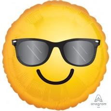 Emoji Standard HX Smiling Emoticon & Sunglasses Foil Balloon