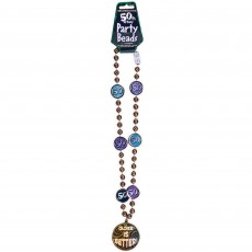 50th Birthday Party Supplies - Bead Chain Necklace