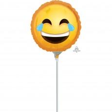 Emoji Laughing Emoticon Foil Balloon