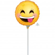 Emoji Smiling Emoticon Poking Tongue Out Foil Balloon