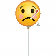 Get Well Emoticon Face Foil Balloon