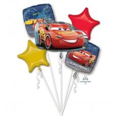 Disney Cars 3 Lightning McQueen Bouquet Foil Balloons Pack of 5