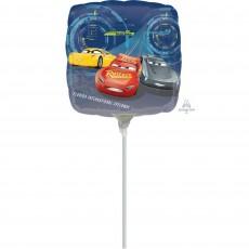 Square Disney Cars 3 Foil Balloon 22cm