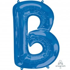 Letter B Blue SuperShape Shaped Balloon