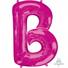 Pink Letter B SuperShape Shaped Balloon 86cm