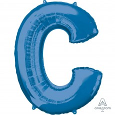 Letter C Blue SuperShape Shaped Balloon