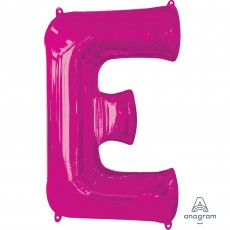 Letter E Pink SuperShape Shaped Balloon