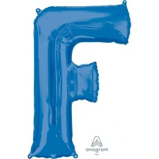 Letter F Blue SuperShape Shaped Balloon