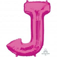 Letter J Pink  Megaloon Foil Balloon