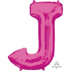 Letter J Pink SuperShape Shaped Balloon
