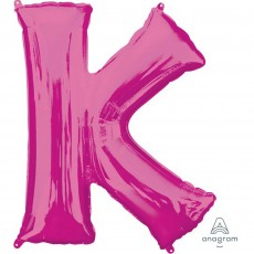 Letter K Pink SuperShape Shaped Balloon