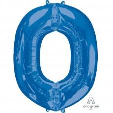 Blue Letter O SuperShape Shaped Balloon 86cm
