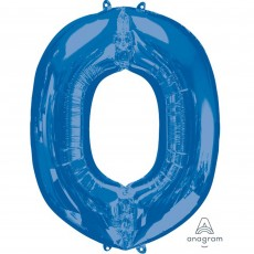 Letter O Blue Helium Saver Megaloon Foil Balloon
