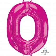 Letter O Pink SuperShape Shaped Balloon