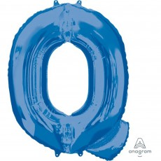 Letter Q Blue Helium Saver Megaloon Foil Balloon