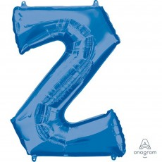 Blue Letter Z SuperShape Shaped Balloon 86cm