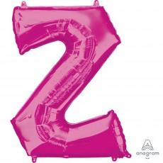Pink Letter Z SuperShape Shaped Balloon 86cm