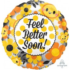 Get Well Floral & Smiles Foil Balloon
