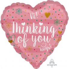 Thinking of You Coral Foil Balloon