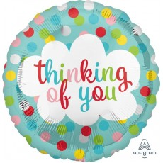 Thinking of You Standard HX Dots Foil Balloon