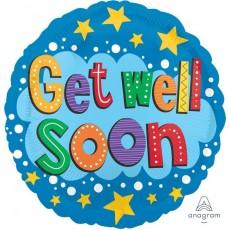 Get Well Stars & Brights Foil Balloon
