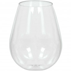 Clear Mini Catering Stemless Wine Plastic Glasses