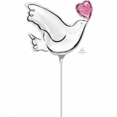 Mini Wedding Dove Shaped Balloon