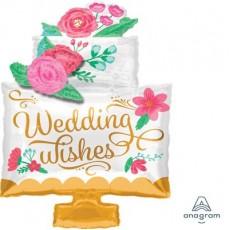 Wedding SuperShape Cake Shaped Balloon
