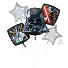 Star Wars Party Decorations - Foil Balloons Bouquet Classic