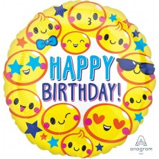 Emoji Emoticon Fun Foil Balloon