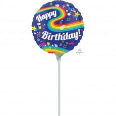 Rainbow Colourful  Fun Foil Balloon