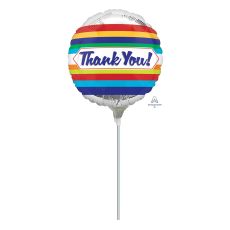 Thank You Party Decorations - Foil Balloon Stripes