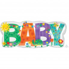 Baby Shower - General SuperShape Cute Icons Shaped Balloon