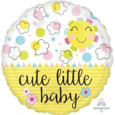 Round Baby Shower - General Standard HX Sunshine Cute Little Baby Foil Balloon 45cm