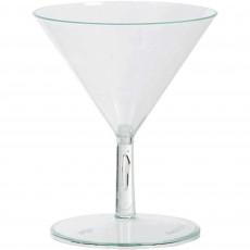 Clear Mini Catering Martini Plastic Glasses 74ml Pack of 20