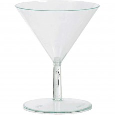 Clear Mini Catering Martini Plastic Glasses