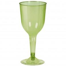 Avocado Green Wine Glass Plastic Glasses 295ml Pack of 18
