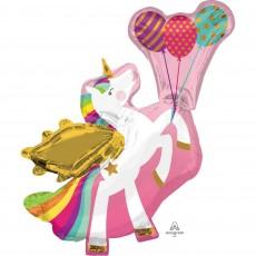 Unicorn Fantasy Party Decorations - Shaped Balloon Winged Unicorn