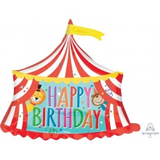 Big Top Party Decorations - Shaped Balloon SuperShape Circus Tent