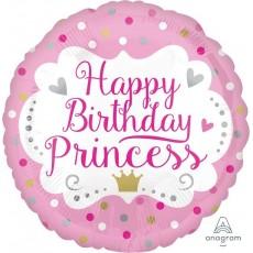 Princess Party Decorations - Foil Balloon Happy Birthday Princess