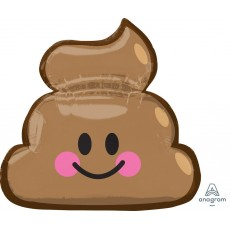 Emoji Poop Smiley Face Foil Balloon