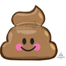 Emoji SuperShape XL Emoticon Poop Shaped Balloon 63cm x 60cm