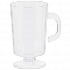 Clear Mini Catering Coffee Plastic Cups 74ml Pack of 10