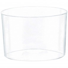 Clear Mini Catering Round Plastic Bowls 74ml Pack of 40
