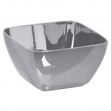 Silver Mini Plastic Bowls