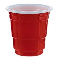 Red Shot Glasses Plastic Cups