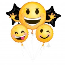 Emoji Bouquet Emoticon Smiles Foil Balloons