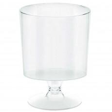Clear Mini Catering Pedestal Plastic Glasses 147ml Pack of 10
