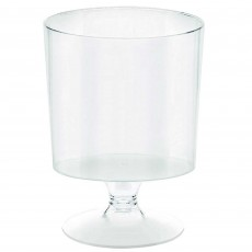 Clear Mini Catering Tiny Pedestal Plastic Glasses 59ml Pack of 40