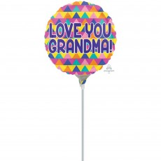 Mother's Day Triangle Pattern Foil Balloon